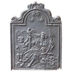 Antique Dutch Louis XIII 'The Hope' Fireback, 17th Century