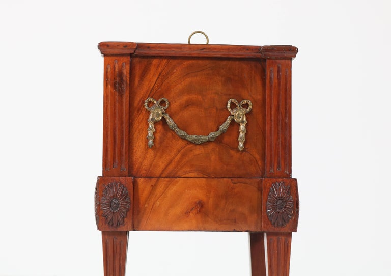 Late 18th Century Antique Dutch Mahogany Louis XVI Jardinière or Wine Cooler, 1790s For Sale