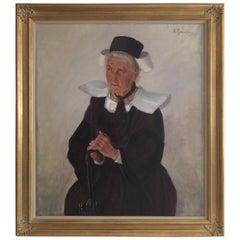 Antique Dutch Painting, Reinier Pijnenburg, French Fisherwoman