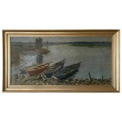 Antique Dutch Painting, Willem Witjens, Dutch Landscape