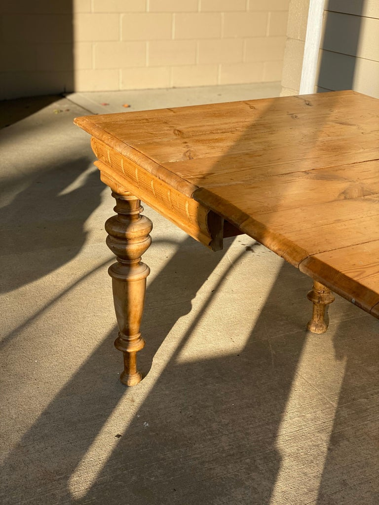 Antique Dutch Pine Dining Table, circa 1870 For Sale 6
