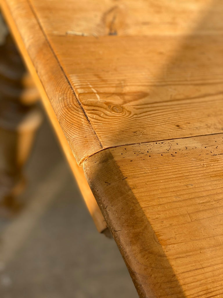 Antique Dutch Pine Dining Table, circa 1870 For Sale 9