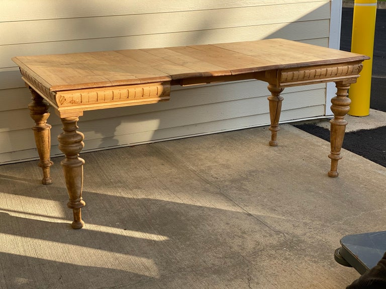 Antique Dutch Pine Dining Table, circa 1870 In Fair Condition For Sale In Southampton, NY