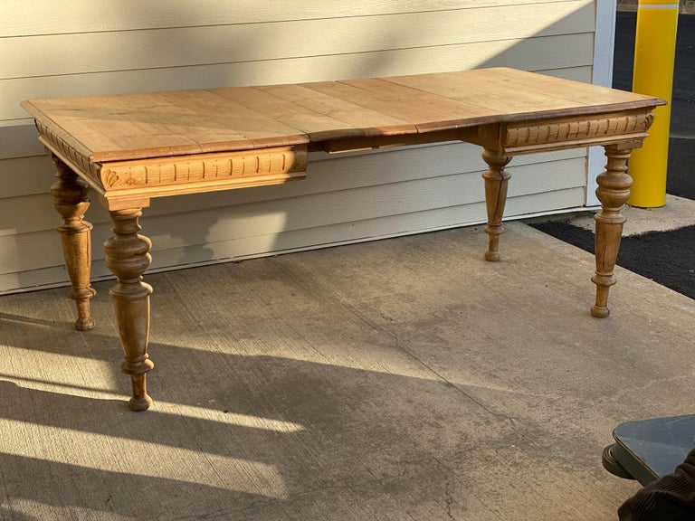 19th Century Antique Dutch Pine Dining Table, circa 1870 For Sale