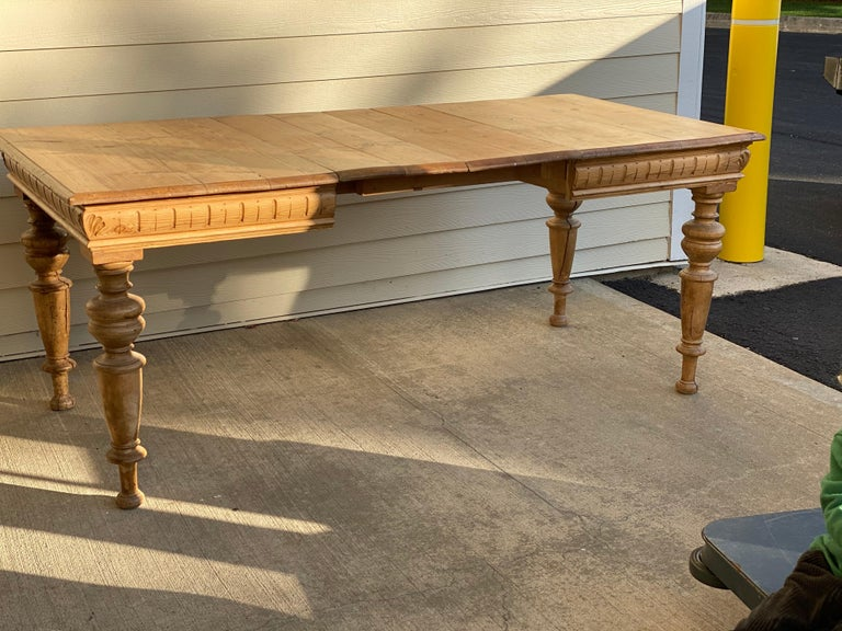 Antique Dutch Pine Dining Table, circa 1870 For Sale 1