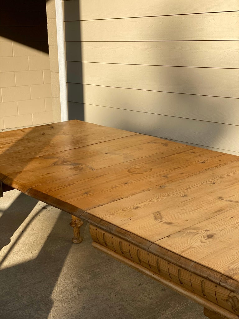Antique Dutch Pine Dining Table, circa 1870 For Sale 2