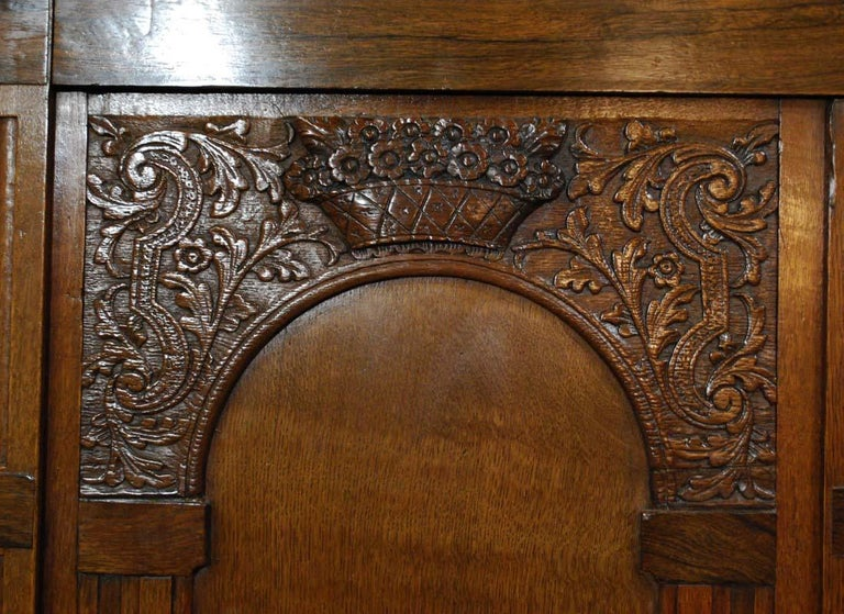Antique Dutch Renaissance Oak  Cabinet For Sale 8
