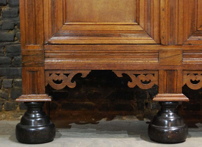 Antique Dutch Renaissance Oak  Cabinet For Sale 11