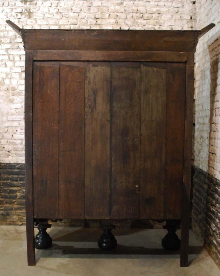 Antique Dutch Renaissance Oak  Cabinet For Sale 14