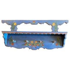 Antique Dutch Shelf with Pegs
