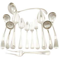 Antique Dutch Silver Canteen of Cutlery for Eight Persons