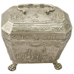 Antique Dutch Silver Tea Caddy