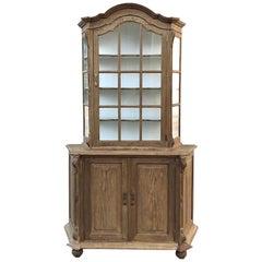 Antique Dutch Stripped Oak Bookcase