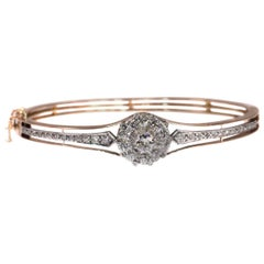 Antique Dutch Victorian Diamond Bangle, 1890s