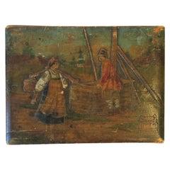Antique Dutch Wood Box