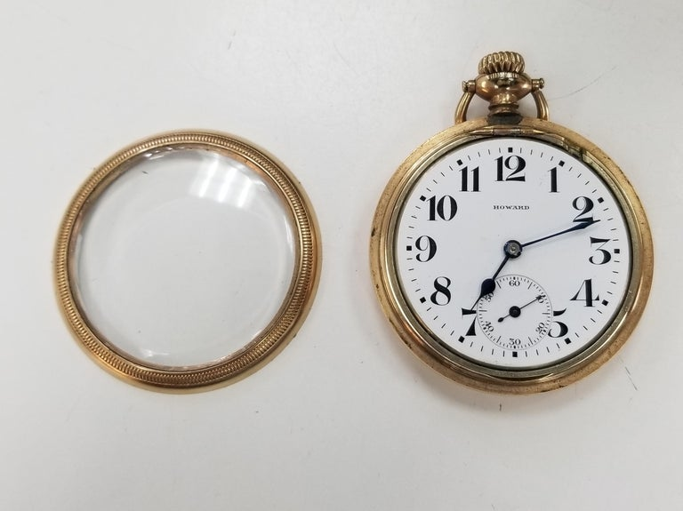 For sale is an antique E. Howard Series 11 Rail Road Chronometer Gold Filled pocket watch. It is all original, 16 size and was made around 1914. It has a beautiful Series 11 Rail Road grade 21 jewel movement, 53mm  and is housed in it's original