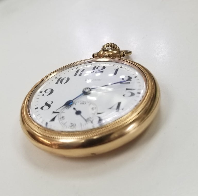 Artisan Antique E. Howard Series 11 Rail Road Chronometer Gold Filled Pocket Watch