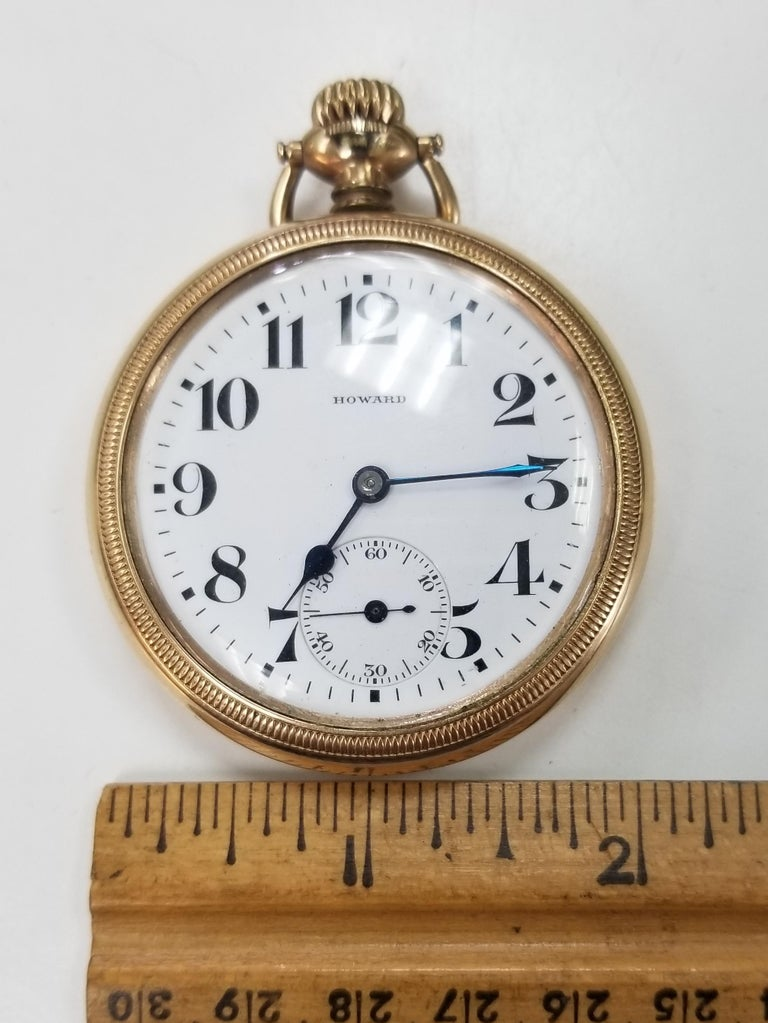 Antique E. Howard Series 11 Rail Road Chronometer Gold Filled Pocket Watch 2
