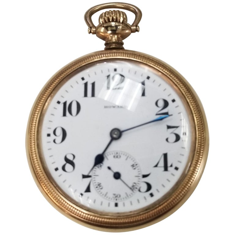 Antique E. Howard Series 11 Rail Road Chronometer Gold Filled Pocket Watch