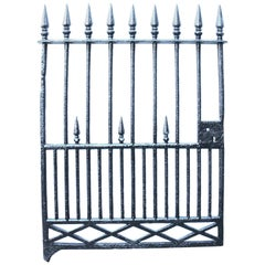 Antique Early 19th Century Cast Iron Pedestrian Gate