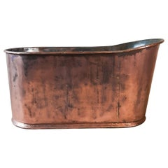 Antique Early 19th Century French Empire Copper Bathtub