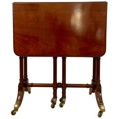 Antique Early 19th Century George III Mahogany Spider Leg Drop-Leaf Table