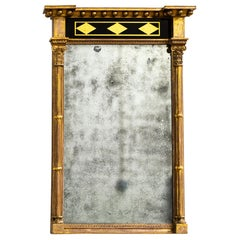 Antique Early 19th Century Regency English Country House Giltwood Pier Mirror