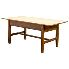 Antique Early 19th Century Welsh Pine Farmhouse Dairy Table