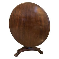 Antique Early 19th Century William IV Mahogany Circular Centre Table