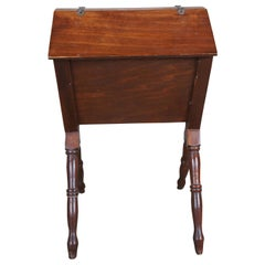 Antique Early 20th C William & Mary Style Priscilla Sewing Storage Cabinet Stand