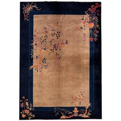 Antique Early 20th Century 1920s Chinese Art Deco Rug