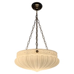 Early 20th Century Classical & Stylish Design Glass Pendant light Chandelier