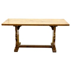 Antique Early 20th Century English Arts & Crafts Yorkshire Oak Dining Table