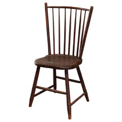 Antique Early American Stenciled Windsor Chair, 19th Century