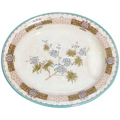 Antique Early English Aesthetic Hand Painted Porcelain Carving Platter