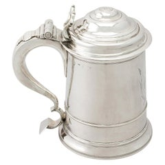 Antique Early George II 1730s Newcastle Sterling Silver Tankard