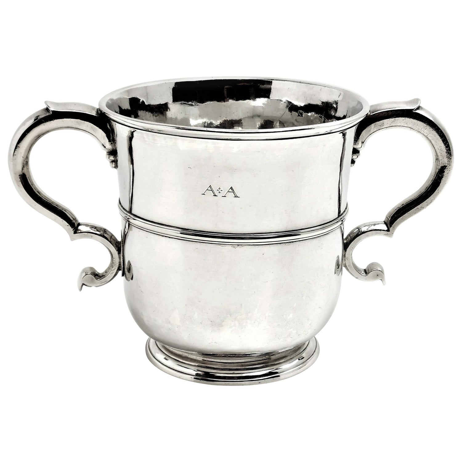 Antique Early Georgian Silver Two-Handled Cup 1722 18th Century Britannia Std
