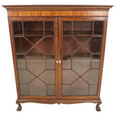 Antique Early Victorian Bookcase, Mahogany Display Cabinet, Scotland 1820, B1823