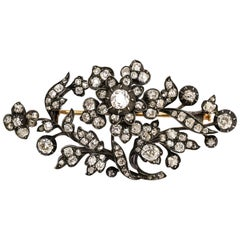 Antique Early Victorian Diamond Giardinetti Brooch
