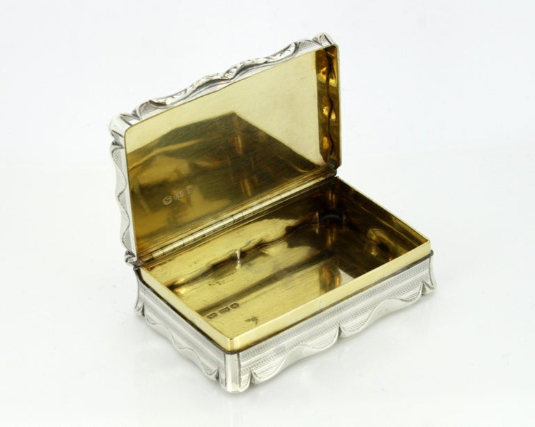 Antique Early Victorian Sterling Silver Cigarette Box, Birmingham, 1848 For Sale 3