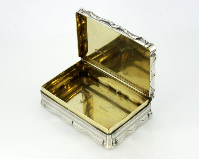 Antique Early Victorian Sterling Silver Cigarette Box, Birmingham, 1848 For Sale 4