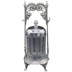 Antique Eastlake Wilcox Silver Plate Co. Pickle Caster, circa 1898
