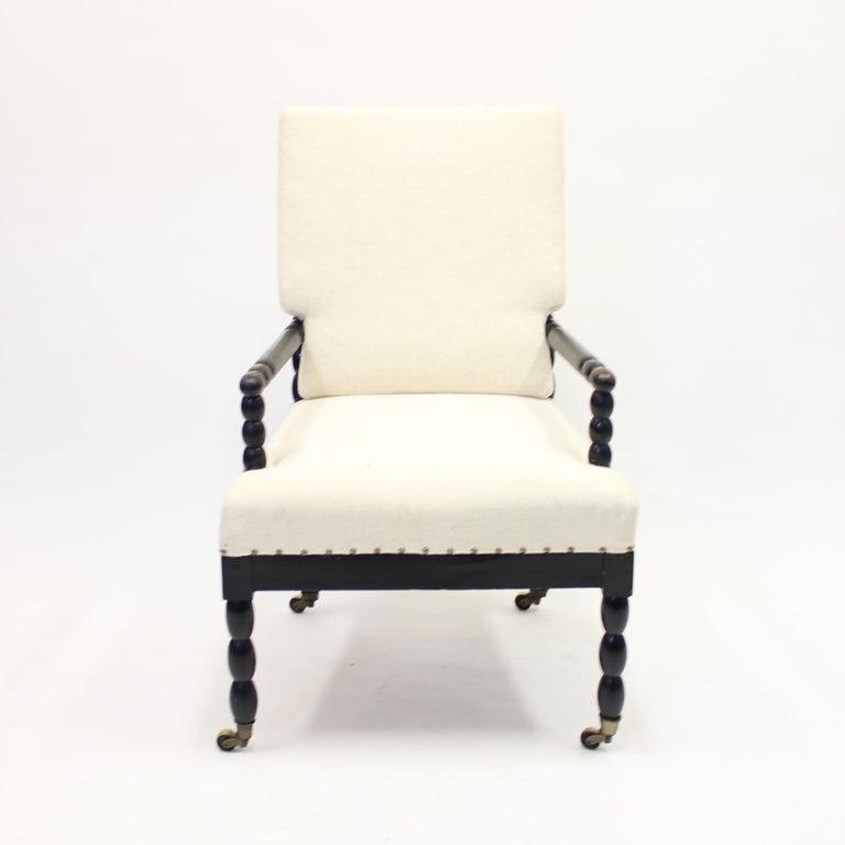 Antique Ebonized Bobbin Turned Chair, ca 1900 2