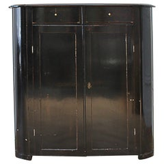 Antique Ebonized Painted Cabinet from England