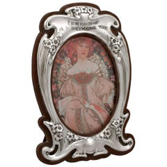 Antique Edward VII Art Nouveau Style Sterling Silver Photograph Frame