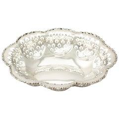 Antique Edward VIII Sterling Silver Bon Bon Dish