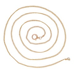Antique Edwardian 10 Karat Gold Curb Link Chain