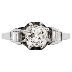Antique Edwardian 1.15 Carat Old Cut Diamond Engagement Ring, circa 1910