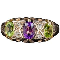 Antique Edwardian 18 Carat Gold Suffragette Ring Dated Birmingham 1915