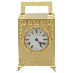 Antique Edwardian 1900s Sterling Silver Mantel Clock by Mappin & Webb Ltd